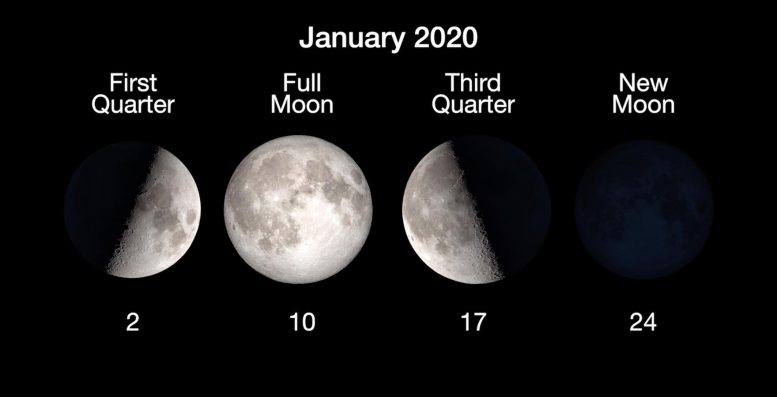 January 2020 Moon Phases