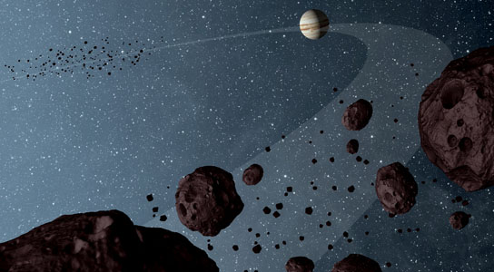 Jovian Trojans are uniformly dark with a hint of burgundy color