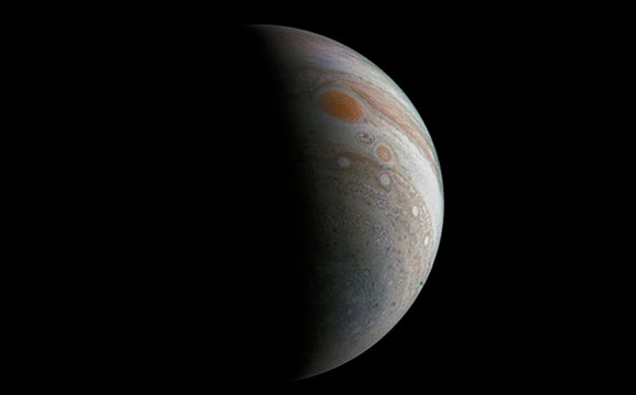 Juno Image Shows Jupiter with the Great Red Spot