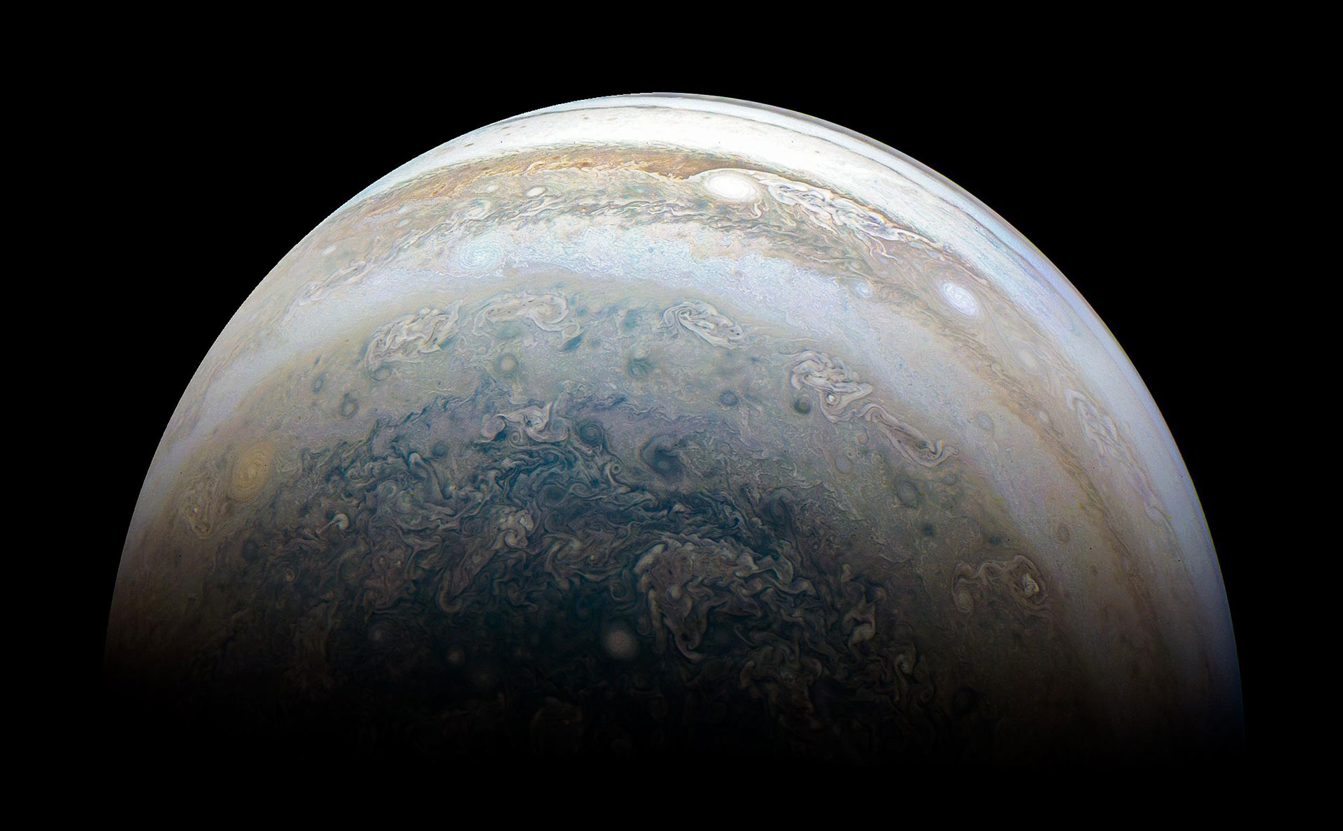 NASA Juno Spacecraft Image of Jupiter From 13th Close Flyby