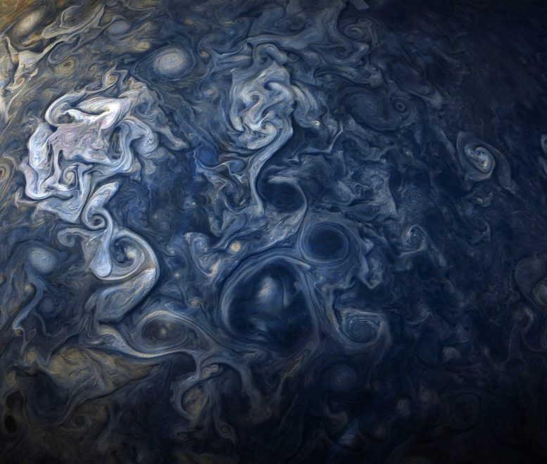 Juno Spacecraft Views Jupiter Blues