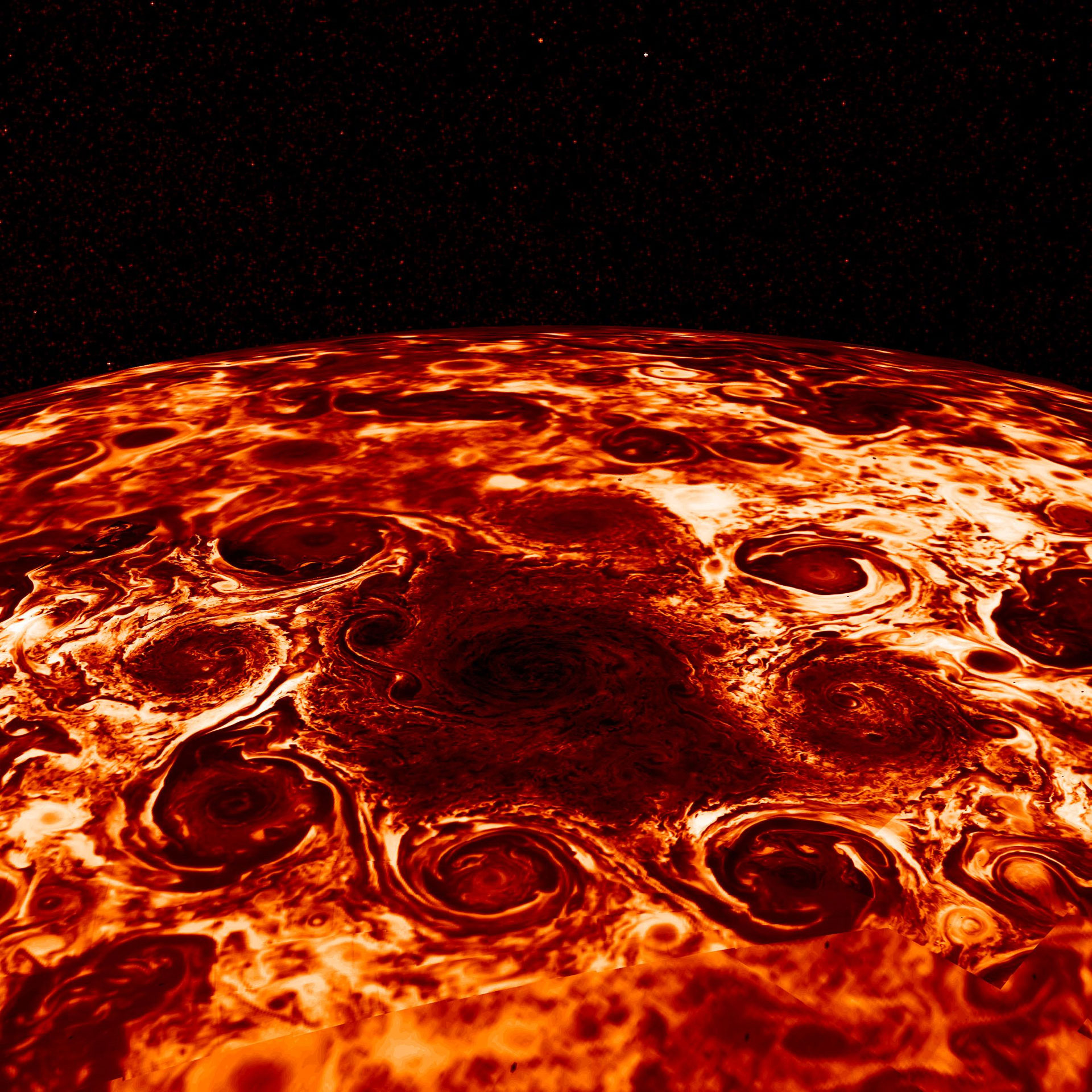 Mystery of Strange Storms on Jupiter With Unusual Geometric Pattern Solved With Help From 19th Century Physics - SciTechDaily