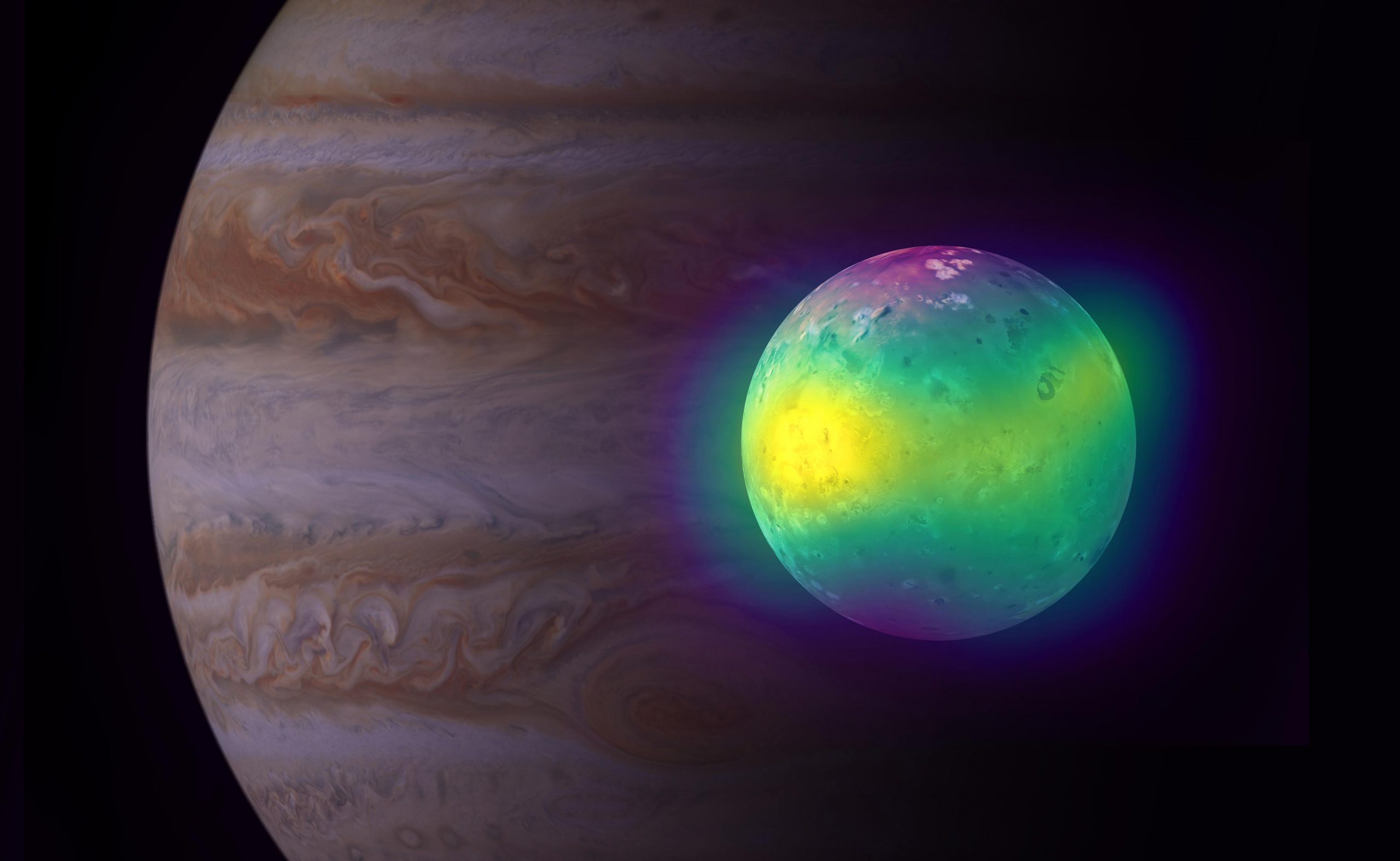 Volcanic Impact on Jupiter's Moon Io Shown Directly for the First Time - SciTechDaily