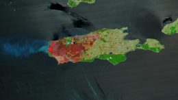 Kangaroo Island Burning Terra Satellite Image