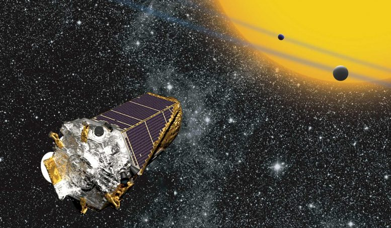 Kepler Telescope Observing Planets