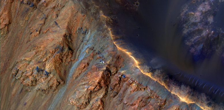 Krupac Crater on Mars