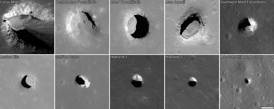 LRO Reveals Lunar Pits Could Shelter Astronauts
