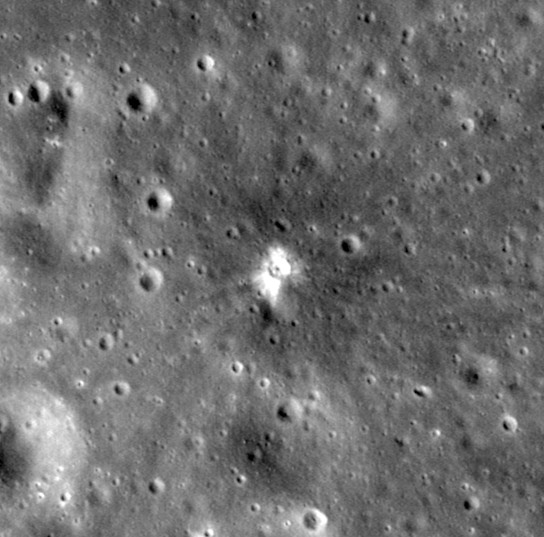 LRO Spacecraft Finds Recent Impact Crater on the Moon