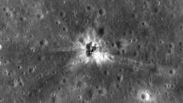 LRO Views Apollo 16 Booster Rocket Impact Site