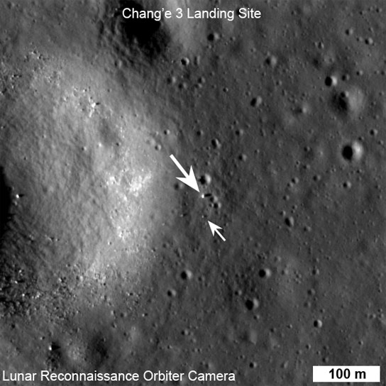 LROC NAC View of Chang'e 3 Lander
