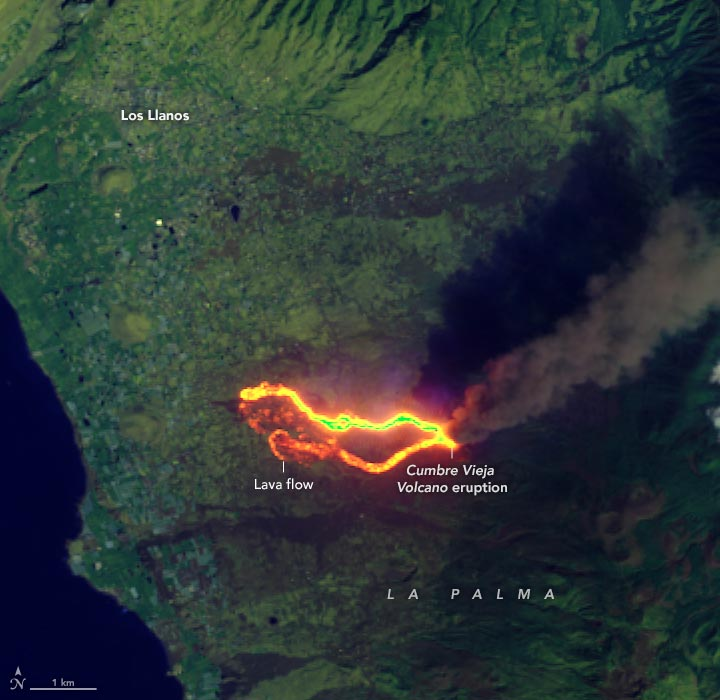 La Palma Infrared September 2021 Annotated