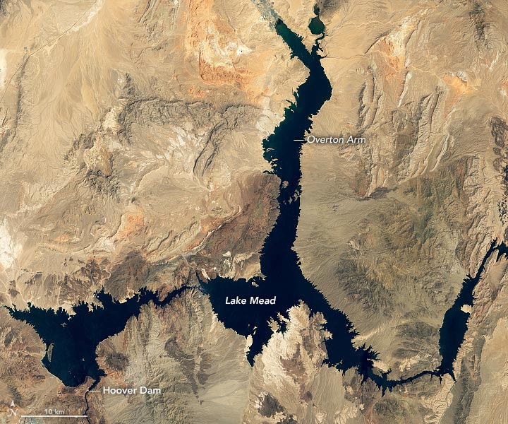 Lake Mead August 2000 Annotated