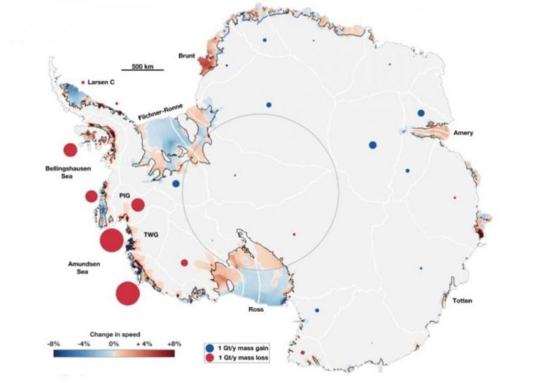 Largest Increase in Ice Flow