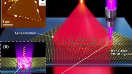Laser Fabrication of Flat Lenses in Monolayer TMDC Materials