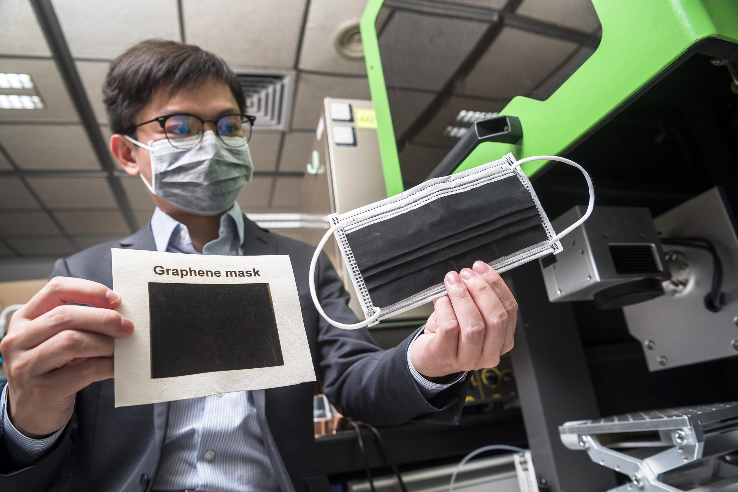 New Graphene Face Masks Offer Very High Anti-bacterial Efficiency, Dea... image