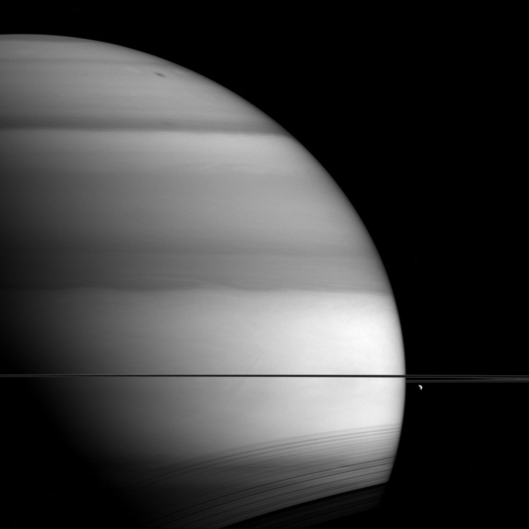 New Cassini Image Shows Methane in Saturn's Atmosphere ...