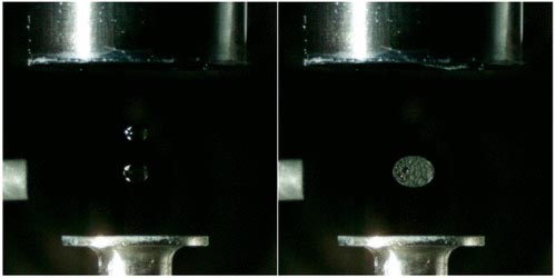 Levitating Droplets Chemical Reaction