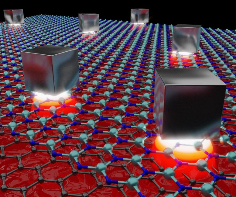 Light Compressed Below Silver Nanocubes Over Graphene