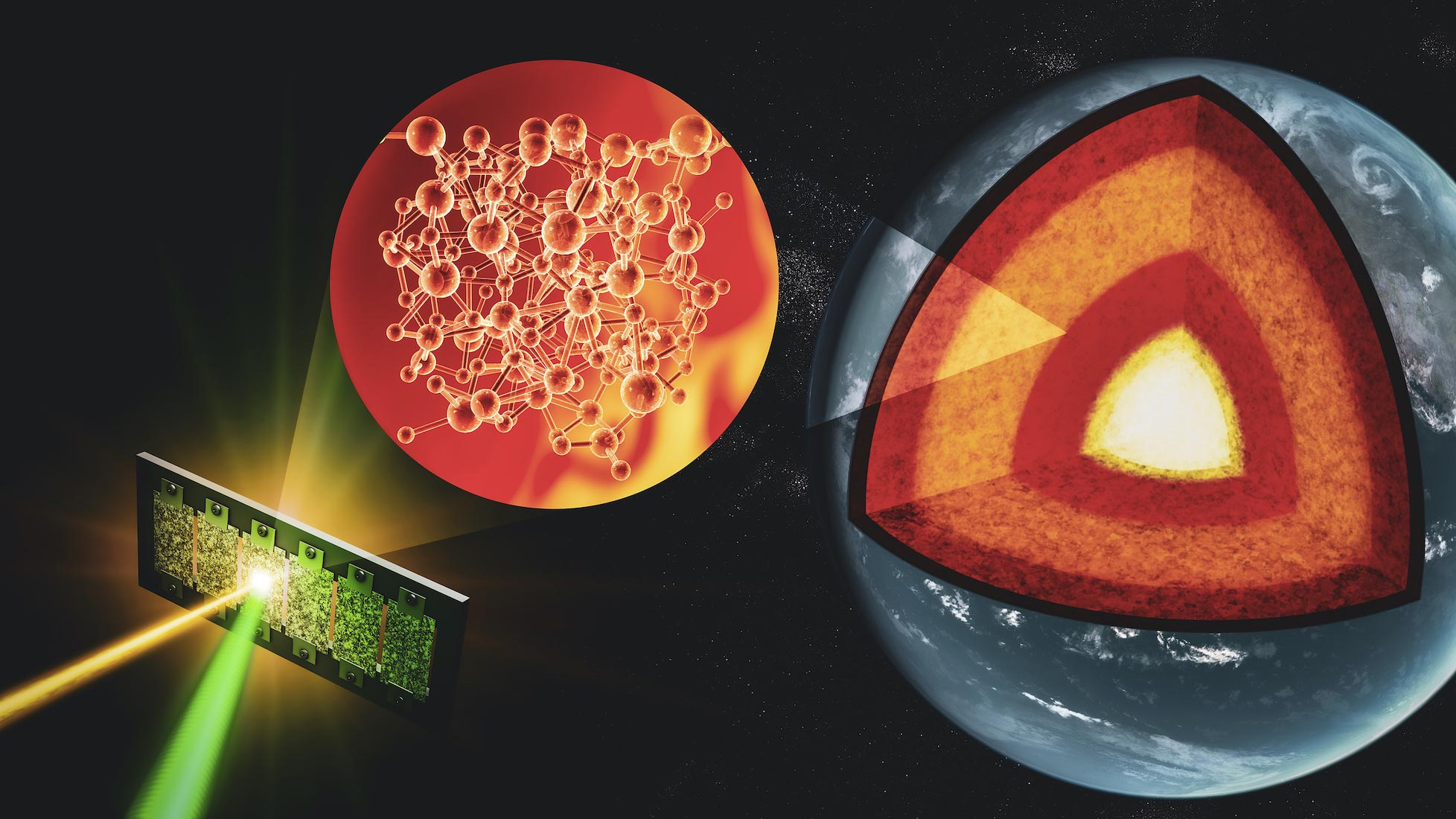 Researchers Probe Materials at Extreme Deep-Earth Conditions to Decipher Earth�s Evolutionary Tale - SciTechDaily