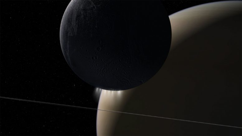 Listen to the Sound of Electromagnetic Energy Moving Between Saturn, Enceladus
