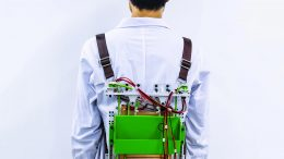 Load-Reducing Backpack Powers Electronics