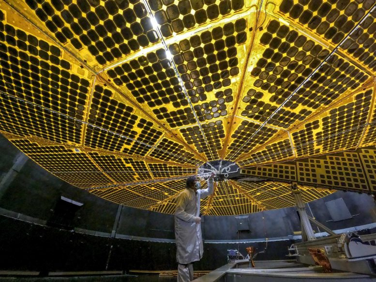 Lucy Solar Panel Deployment Tests