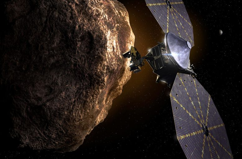 Lucy Spacecraft at Trojan Asteroid