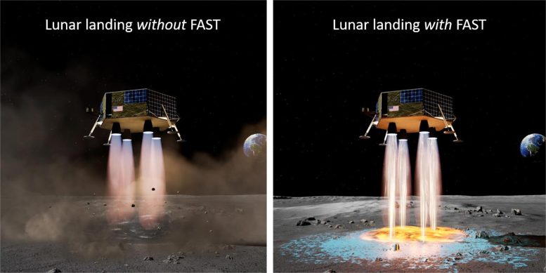Lunar lander with and without landing depot technology