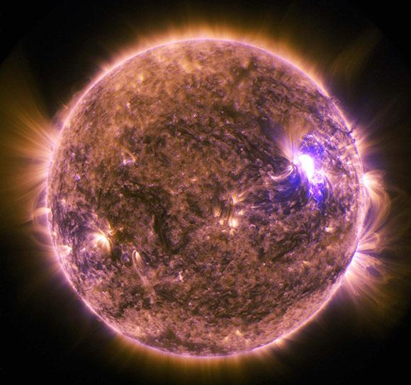 M7.9-Class Solar Flare Seen by Solar Dynamics Observatory
