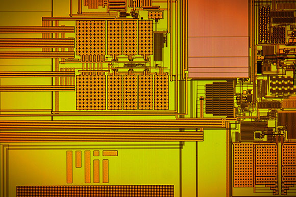 A prototype chip measuring 3 millimeters by 3 millimeters is implemented into the MIT researchers' new design.