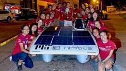 MIT Solar Electric Vehicle Team Poses With Nimbus