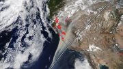 MODIS California Fires August 2020