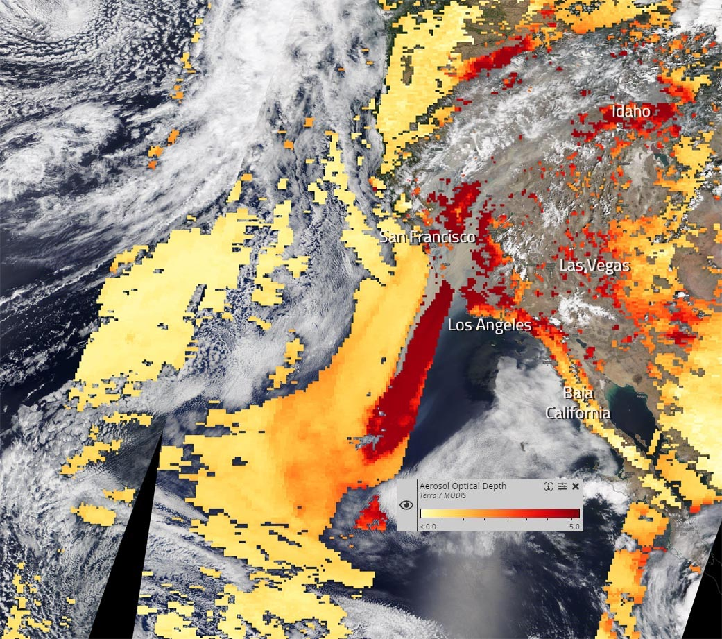 1200 Mile Trail Of Smoke Stretches Across California In These Nasa Terra Images Of The Wildfires