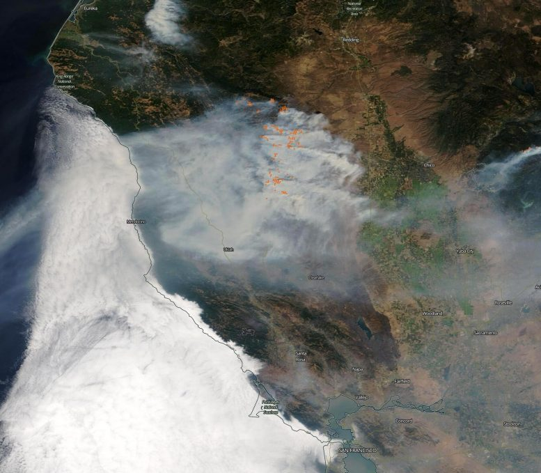 MODIS California Wildfires