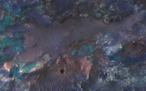 MRO Views Colorful Impact Ejecta from Hargraves Crater