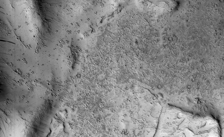 MRO Views Secondary Craters in Bas Relief on Mars