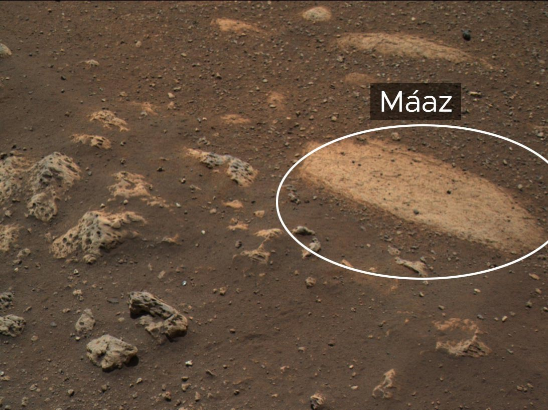 """NASA's Perseverance Mars Rover's First Scientific Focus Is a Rock Named """"Máaz"""" in Honor of Navajo Language"""