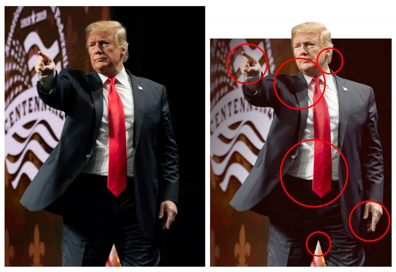 Manipulated Image of President Donald Trump