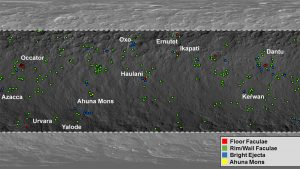Map Shows Bright Material on Dwarf Planet Ceres