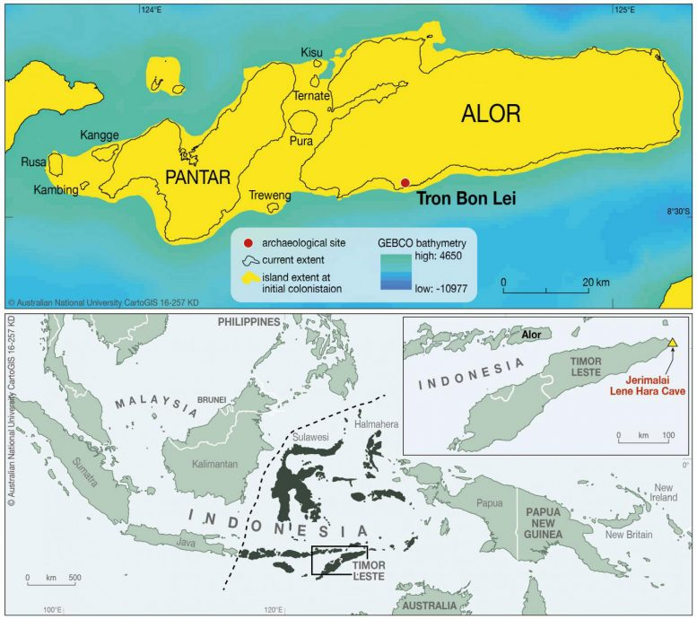 Map of Alor