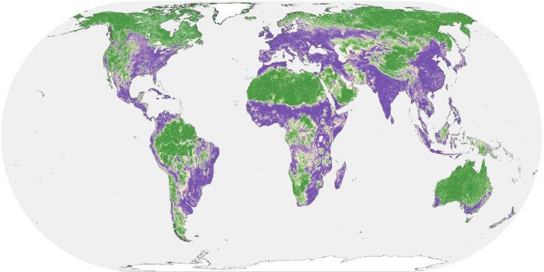 Map of Human Impact on Natural Lands