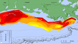 Map of Measured Gulf Hypoxia Zone