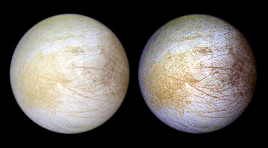 Mapping the Chemistry Needed for Life at Jupiters Moon Europa