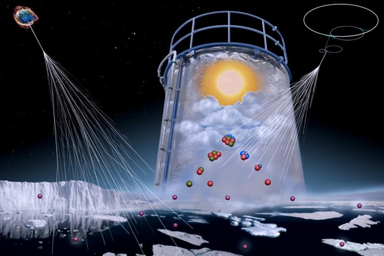 Marine Atmosphere Simulation in CLOUD Chamber