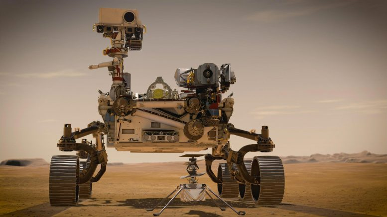 Mars 2020 Perseverance Rover και Ingenuity Mars Helicopter