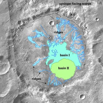 Mars Crater Map of Water Activity