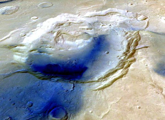 Mars Crater May Be Ancient Supervolcano