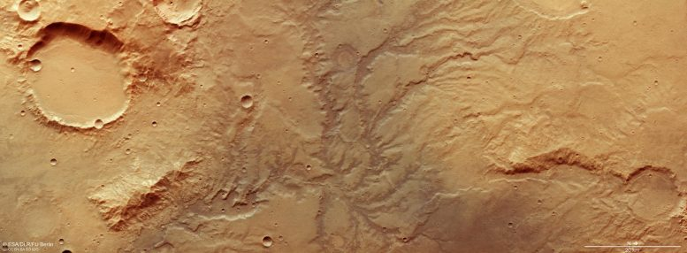 Mars Dried Out River Valley Network