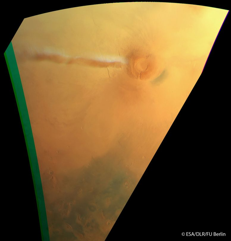 Mars Eelongated Cloud