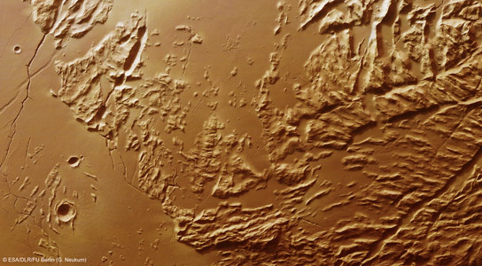 Mars Express Image of the Sulci Gordii Region of Mars